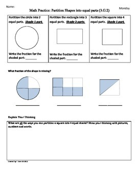 Geometry worksheets 3rd grade common core