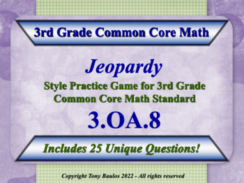3rd grade common core math word problems worksheets