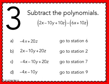 Adding and subtracting polynomials worksheet 3 answers