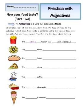 Identifying adjectives worksheet ks1