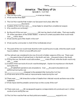 The history channel america the story of us episode 3 worksheet answers