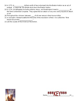 The history channel america the story of us episode 2 revolution worksheet answers quizlet