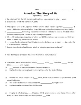 America the story of us world war 2 episode 10 worksheet answers