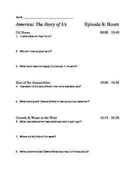 America the story of us worksheets episode 1