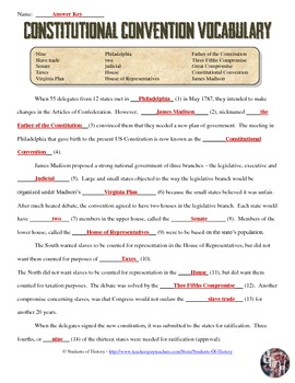 Constitution worksheets for 5th grade