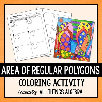 area of regular polygons coloring activity by all things