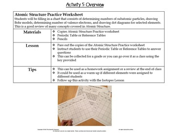 Atomic structure worksheet skill practice 8