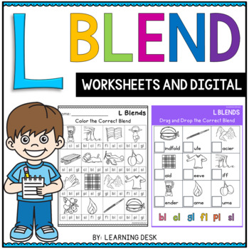 L blends cut and paste worksheets