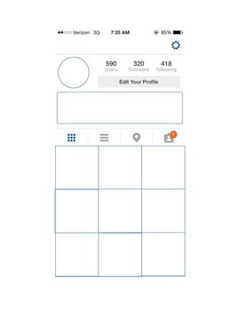 the gallery for   > instagram profile blank template