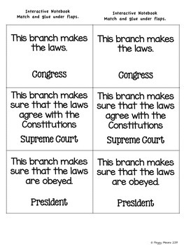 Branches of government worksheets pdf
