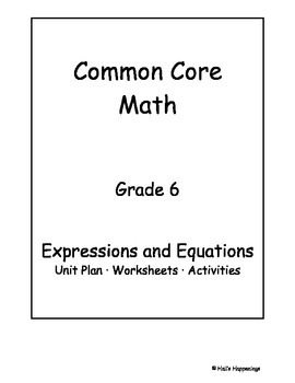6th grade common core math worksheets