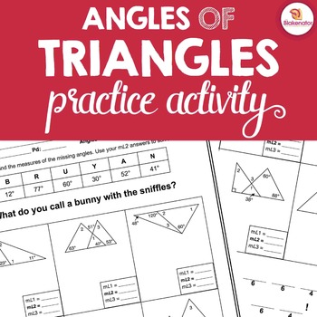 Classifying triangles worksheet tes