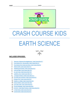 Earth science worksheets pdf