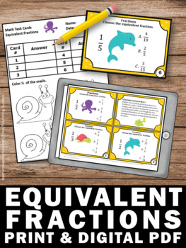 Equivalent fractions worksheet 4th grade common core