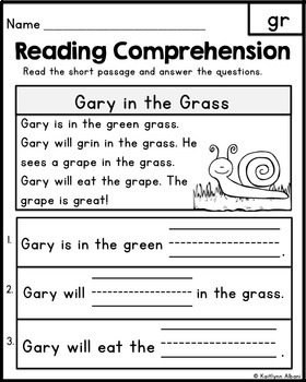 Basic reading exercises for kindergarten