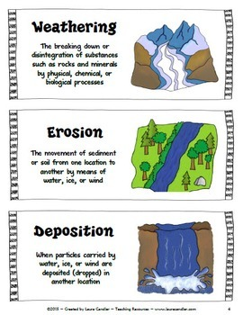weathering and erosion sorting activity (free) by laura