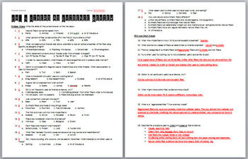Forensic science worksheets answers
