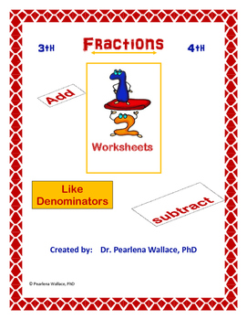 Adding like fractions worksheet pdf