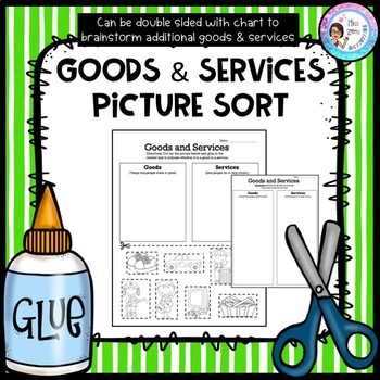 Goods and services printables for first grade