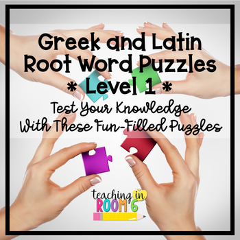 greek and latin roots puzzles level 1 by teaching in room