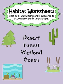 Animal habitat worksheets for grade 2
