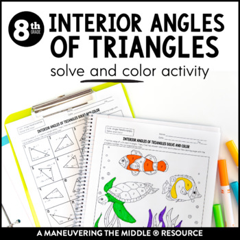 interior angles of triangles 8th grade by maneuvering the
