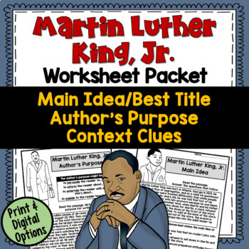 Ereading worksheets main idea answers