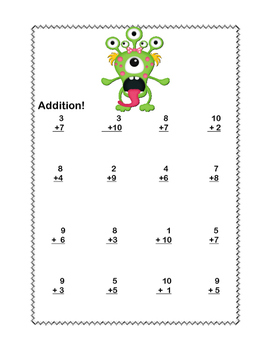 First grade maths worksheets addition
