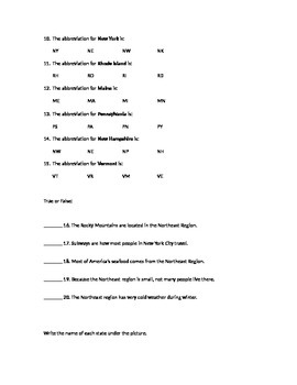 Northeast States Capitals And Abbreviations Test By