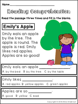 Free reading comprehension worksheets for 2nd graders