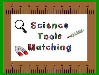 Science tools matching worksheet