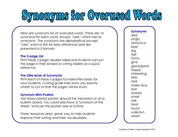Synonyms for