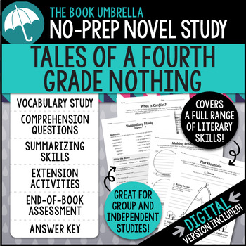 Tales of a Fourth Grade Nothing Comprehension Questions 6634282 ...