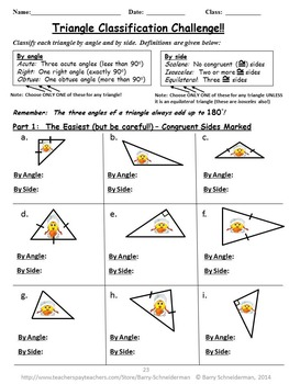 Classifying triangles worksheet grade 5