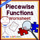 Piecewise functions worksheet pdf