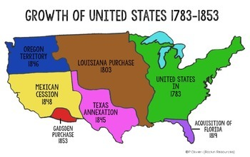 Westward Expansion Map Activity By Rockin Resources Tpt