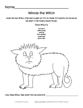 Winnie the witch worksheet