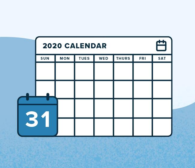 TpT Community Calendar Back to School 2020