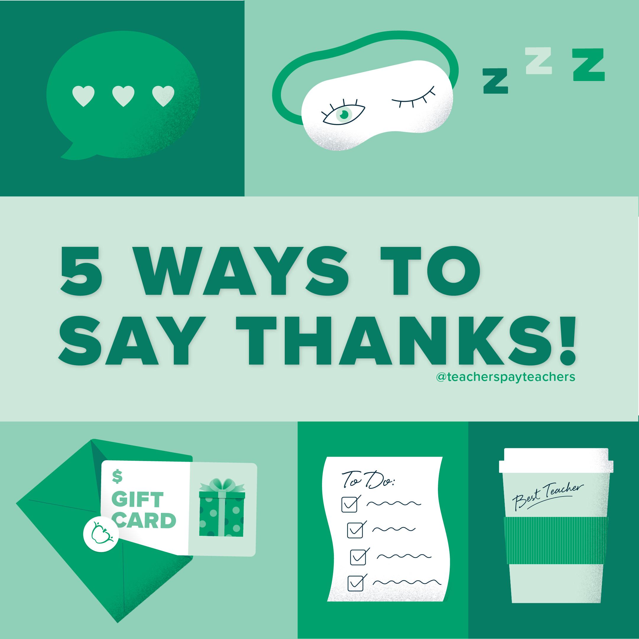 5 Ways to Say Thanks