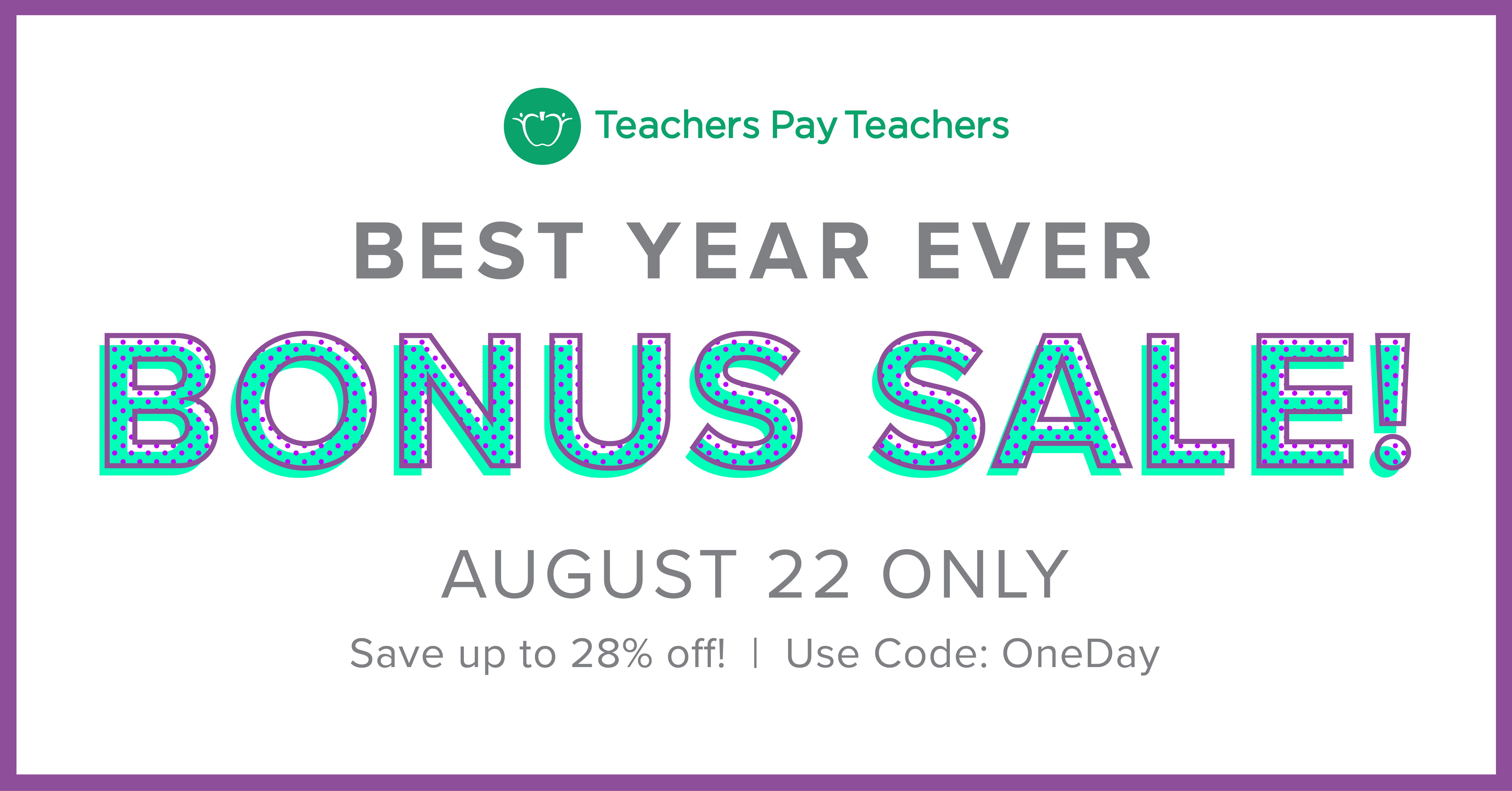 Best Year Ever Bonus Sale