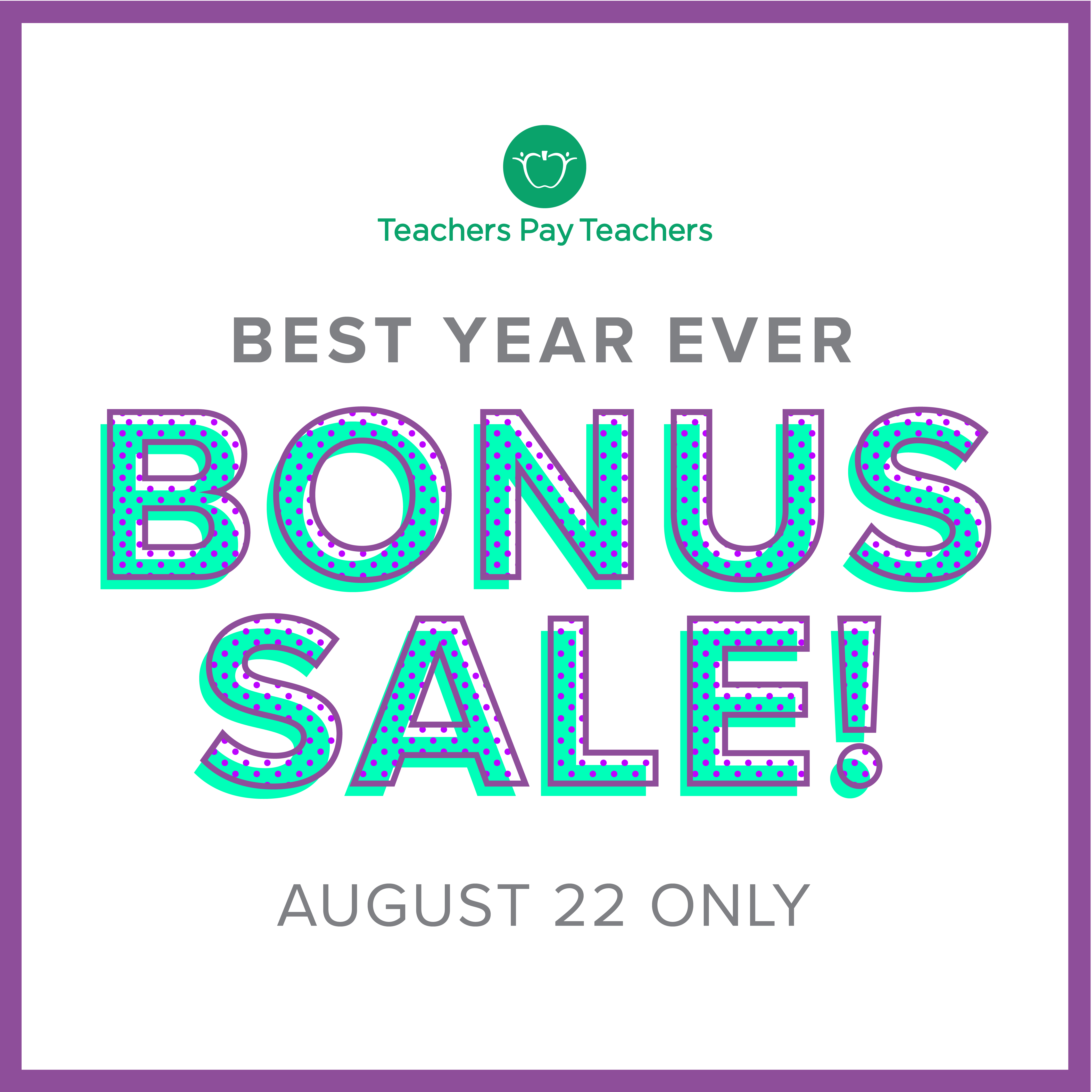 TpT's One-Day Sale Starts Soon!