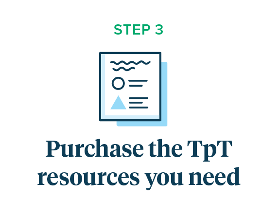 Purchase TpT Resources