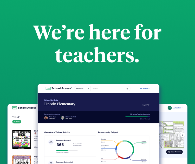 We're here for teachers.