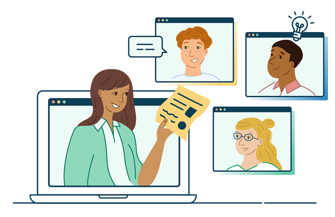 People Learning Digitally