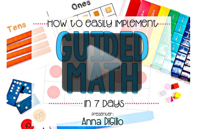 How to Easily Implement Guided Math in 7 Days
