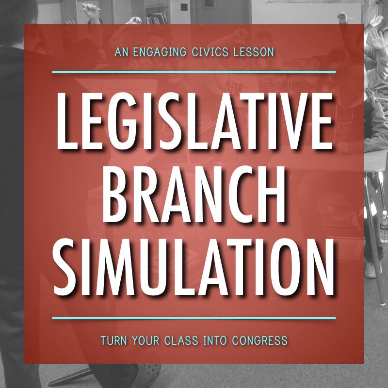 Legislative Branch Simulation: An Engaging Civics Lesson!