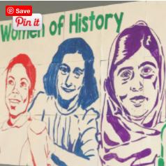 A Unique Women's History Month Activity: Famous Faces® Collaboration Poster
