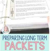 Preparing Long-Term Packets