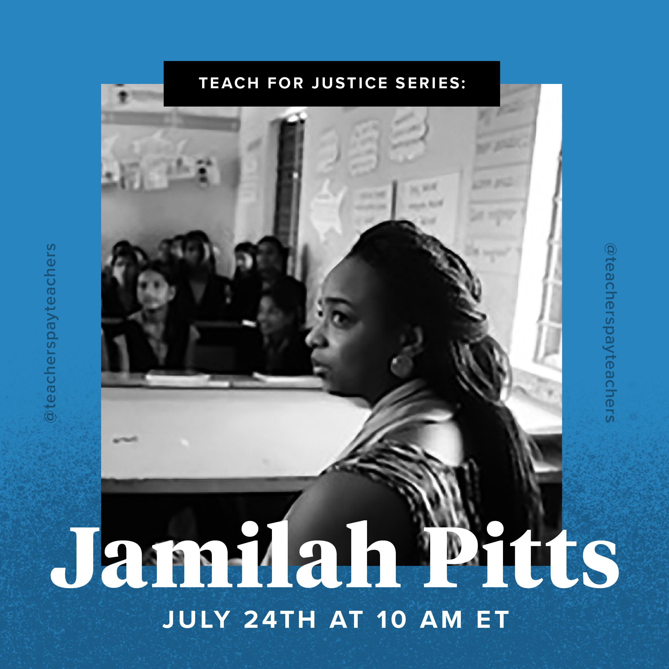 Register for the Teach for Justice Webinar with Jamilah Pitts