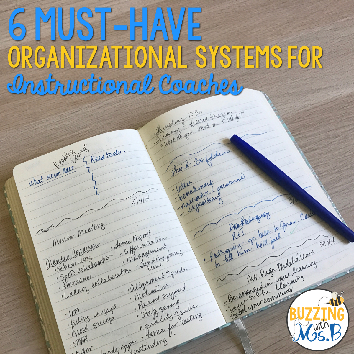 6 Must-Have Organizational Systems for Instructional Coaches